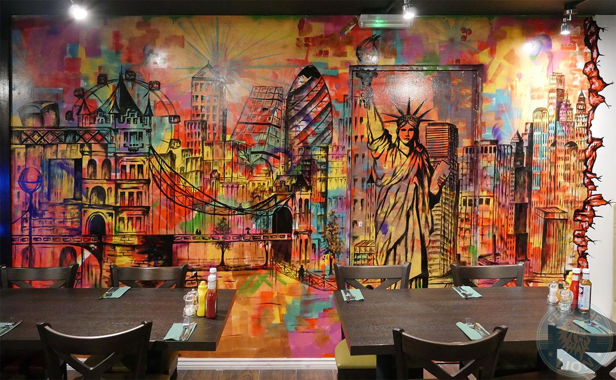 art drawing paining Madison Steak & Lobster - Burger Halal Whitechapple
