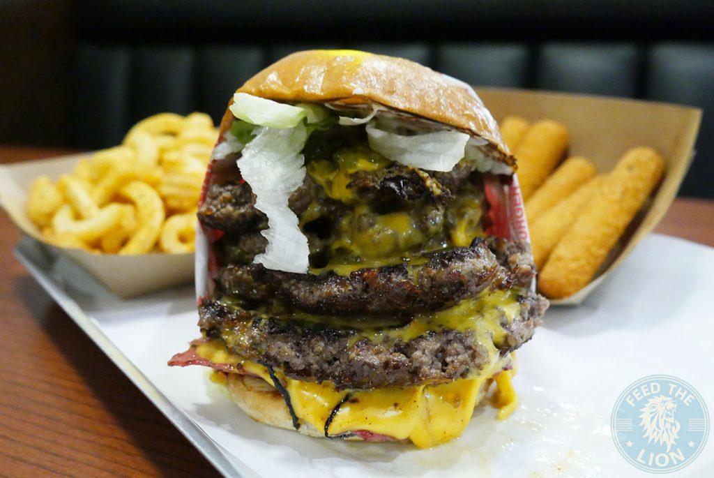 Fatburger Quad Burger Halal Wembley American Burger