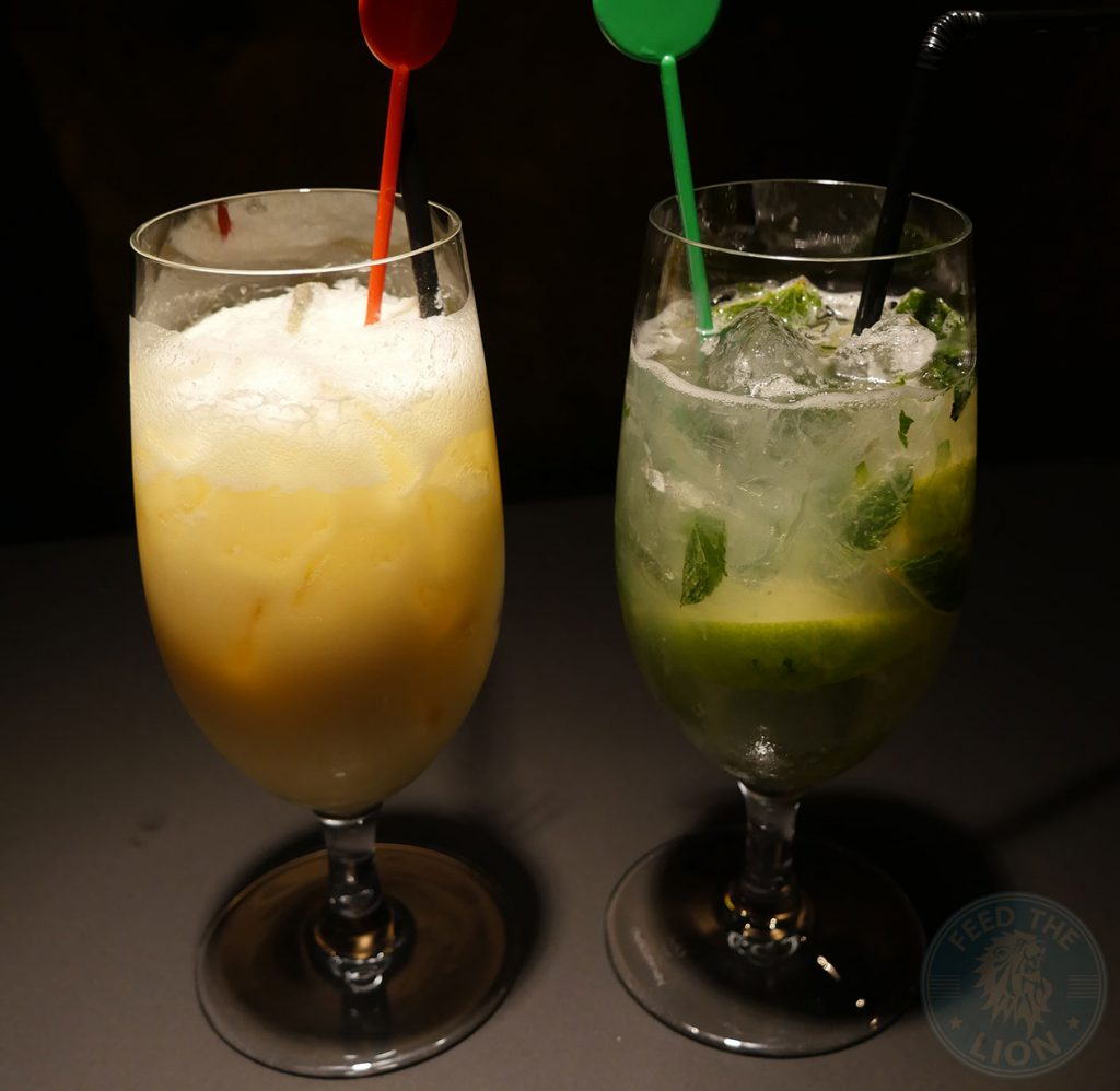 drinks Mojito Pina Colada cocktails Zheng Chelsea Malaysian Halal Restaurant in knightsbridge