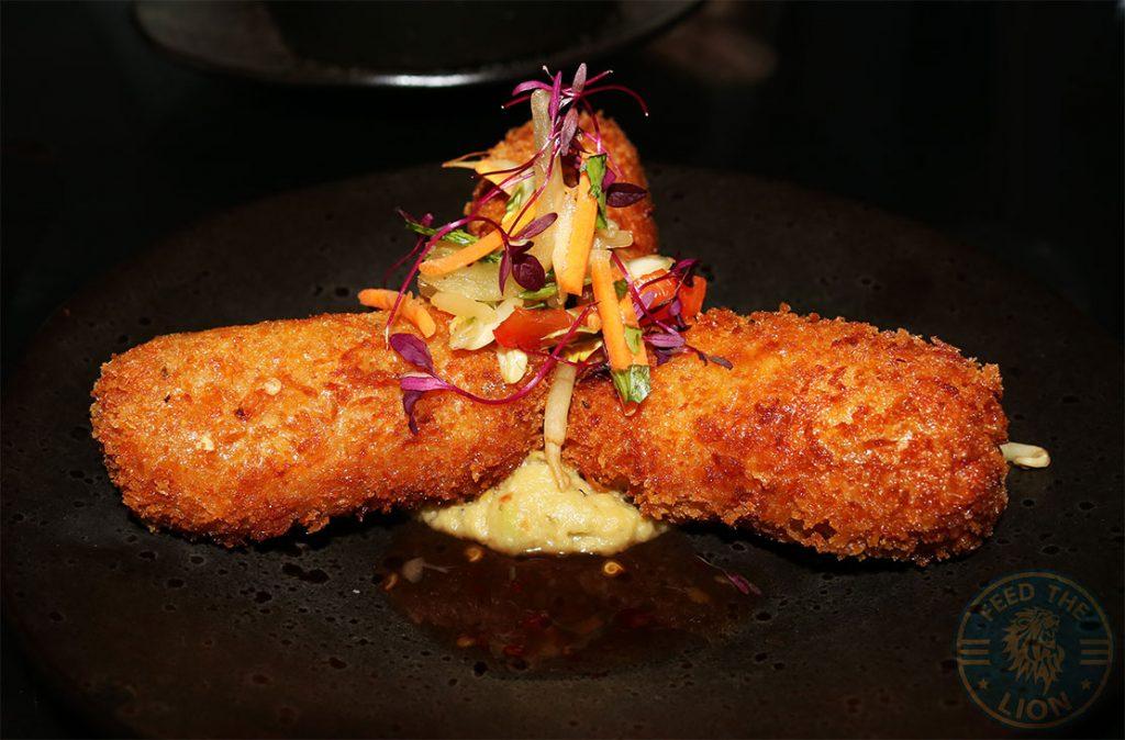 Aurous salmon croquettes Manchester Halal restaurant