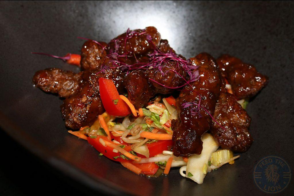 beef salad Aurous Manchester Halal restaurant