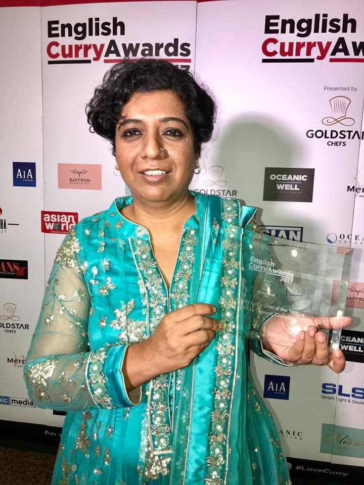 English Curry Awards Celebrity Curry Chef Asma Said Khan Darjeeling Express