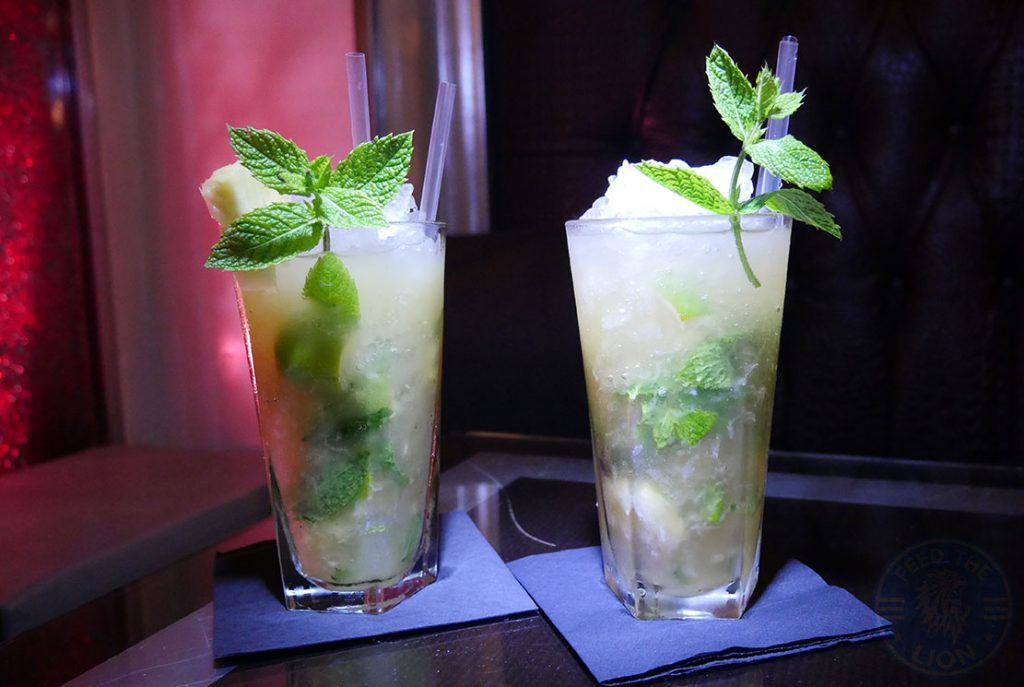 Manounia Lounge Halal London Knightsbridge Restaurant drink Mojito