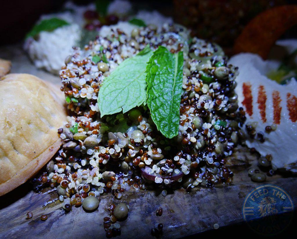 Manounia Lounge Halal London Knightsbridge Restaurant Quinoa Salad