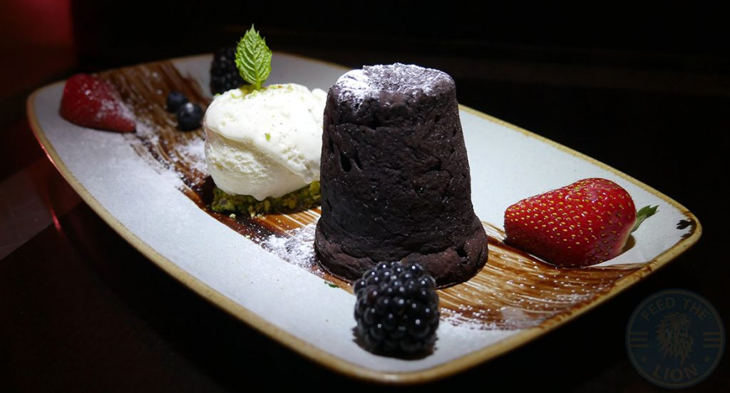 Manounia Lounge Halal London Knightsbridge Restaurant dessert fondant