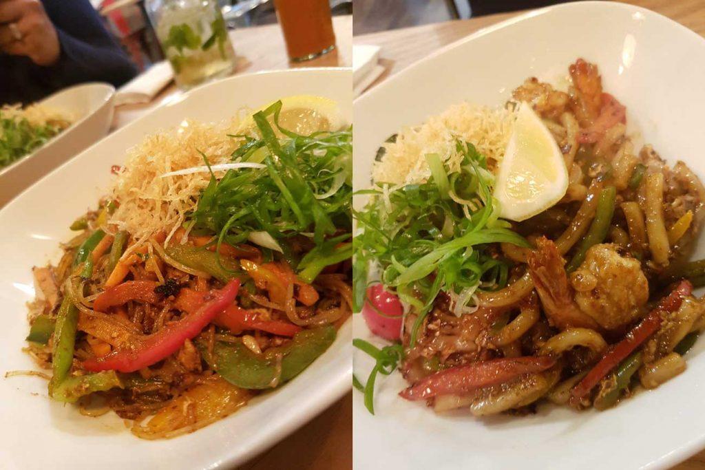 pacana singapore noodles beef prawn pan asian