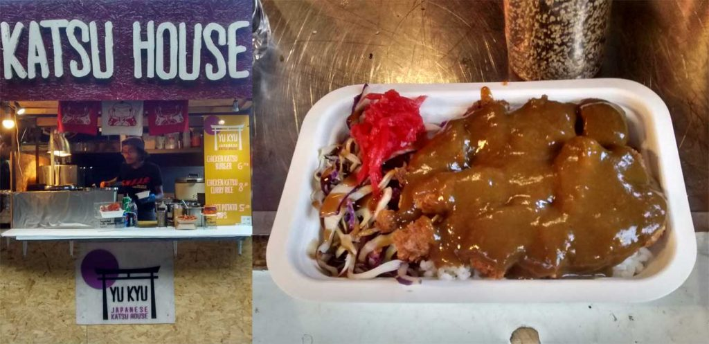 Camden Market Japanese Street Food Chicken Katsu Curry Rice