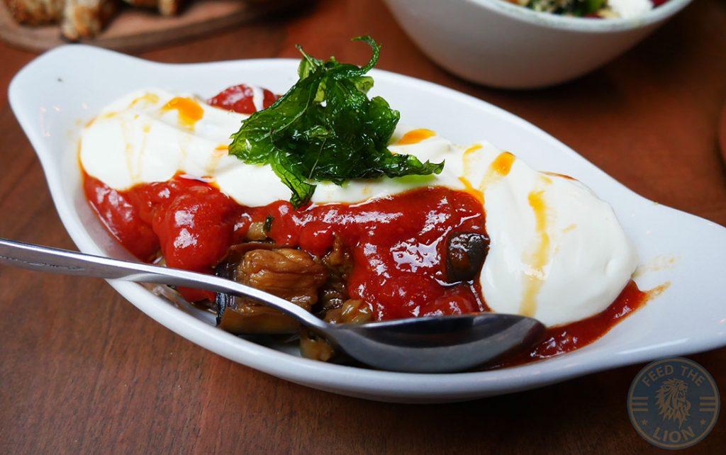 Laz Camden Halal Restaurant Turkish Meze aubergine