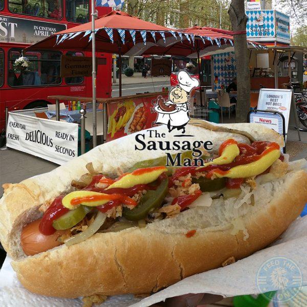 The Sausage Man Germany Frankfurt Halal Ealing Broadway Market popup stall