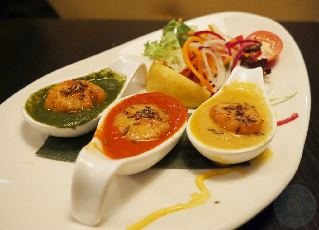 Salaam Namaste Bloomsbury restaurant Halal Curry Scallops Starters
