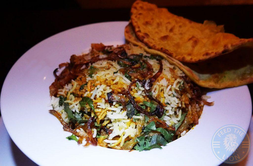 Salaam Namaste Bloomsbury restaurant Halal Curry biryani Rice lamb