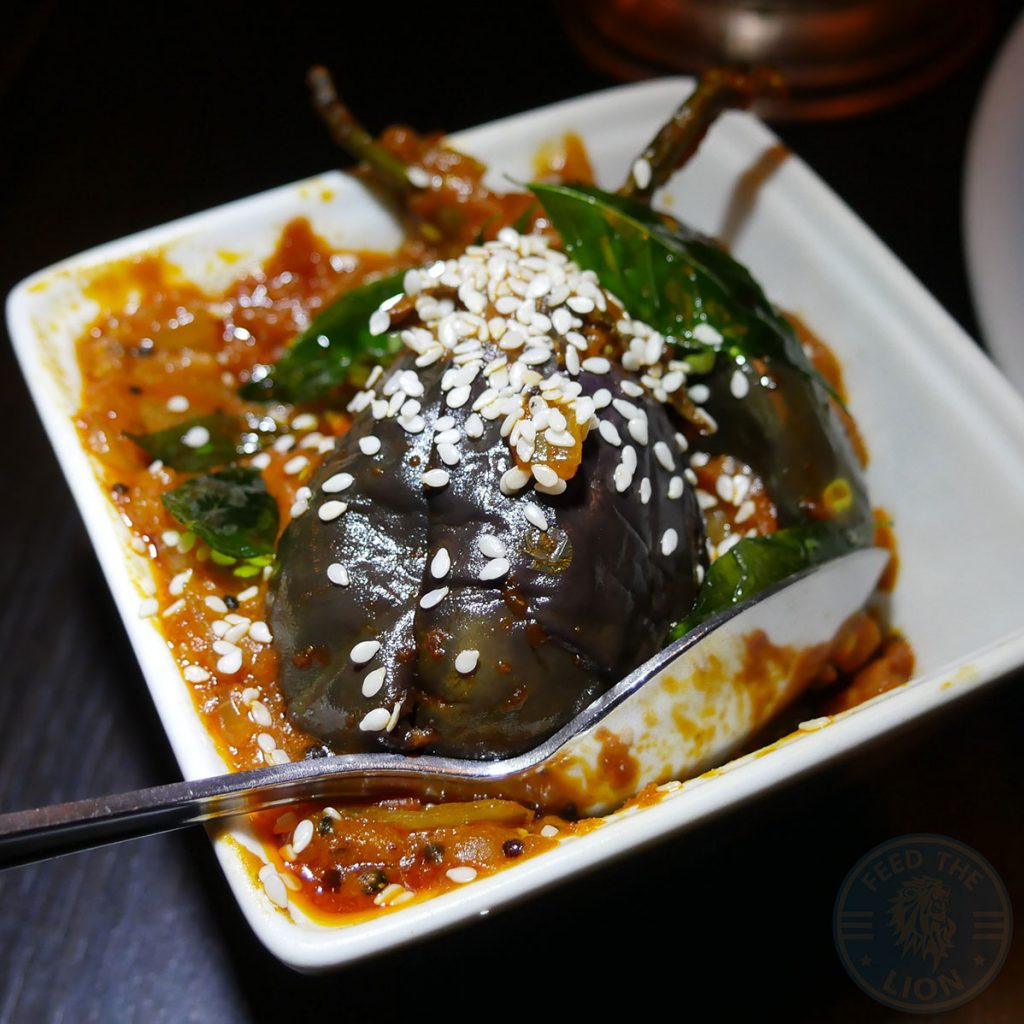 Salaam Namaste Bloomsbury restaurant Halal Curry vegetable Aubergine