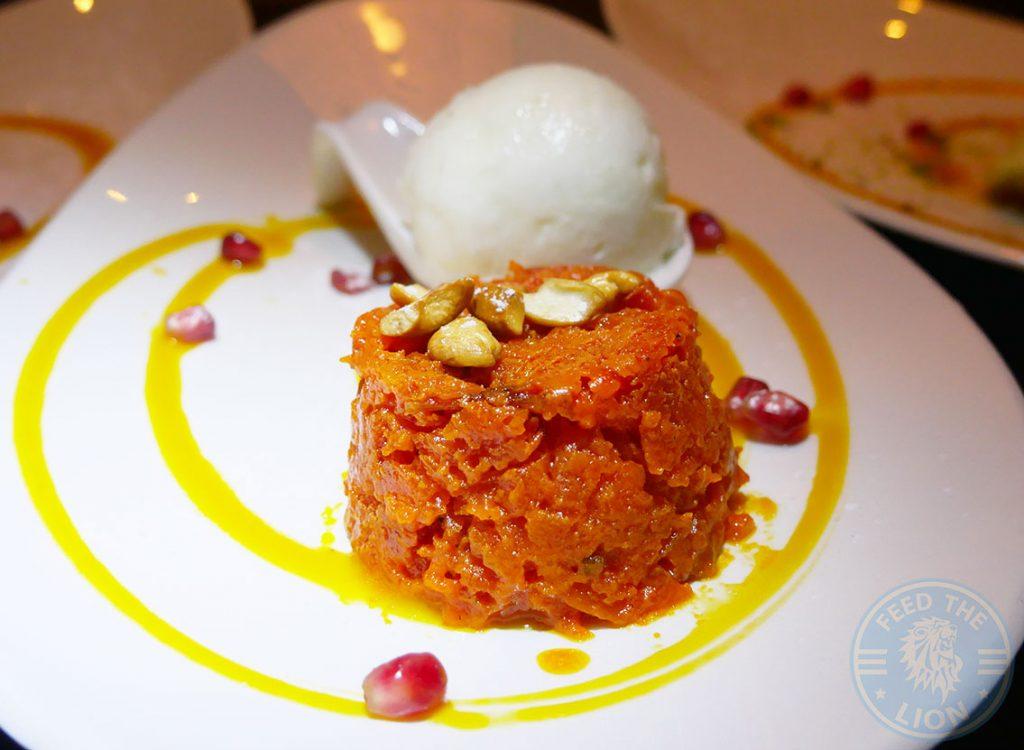 Salaam Namaste Bloomsbury restaurant Halal Curry Carrot Dessert