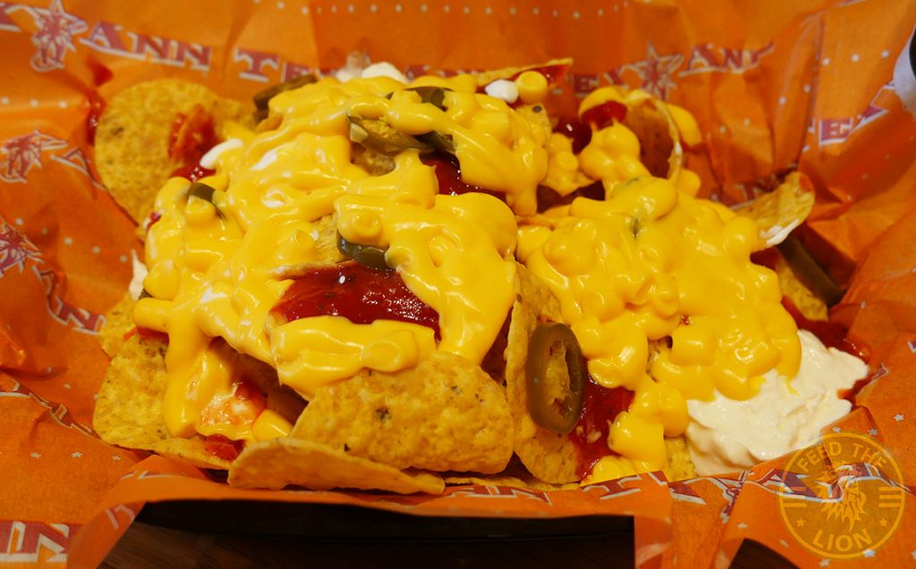 Tex Ann Harrow Halal Burger nachos