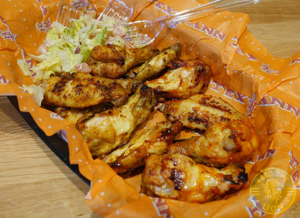 Tex Ann Harrow Halal Burger chicken wings