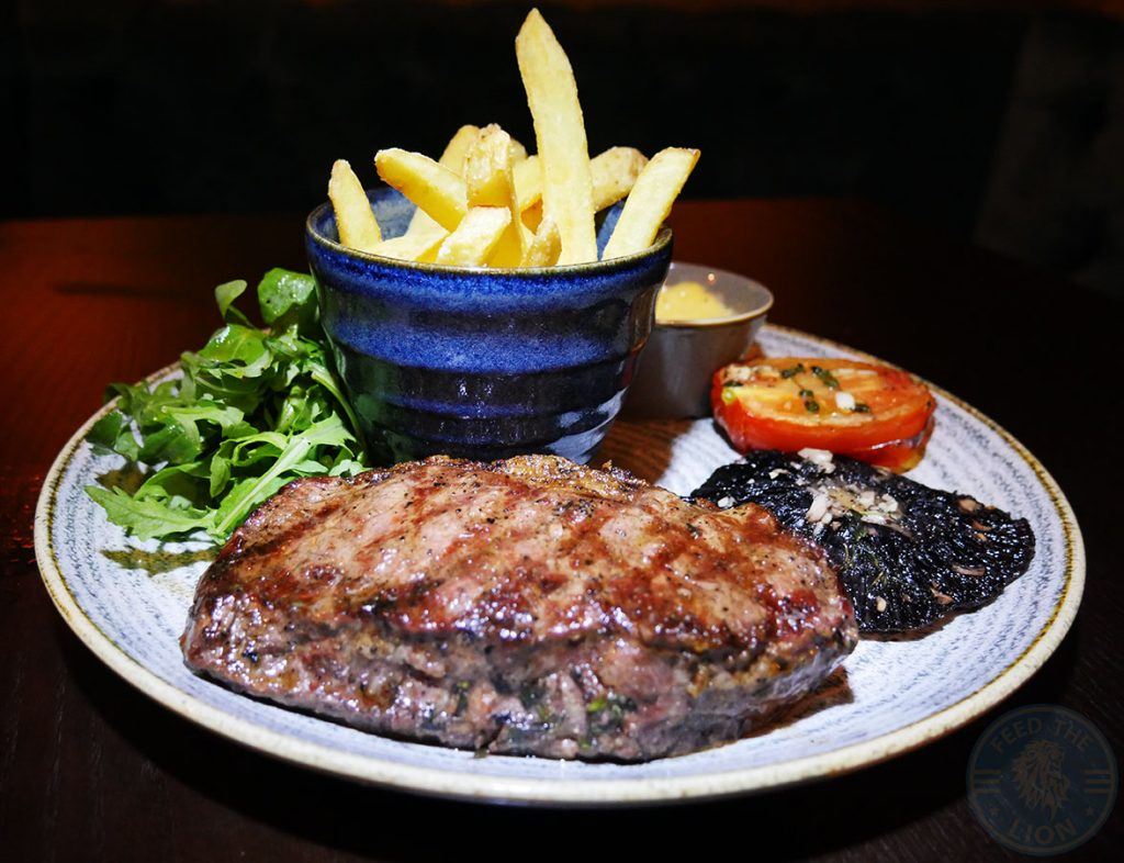 Sirloin steak Drunch Regents Park Halal Food Restaurant