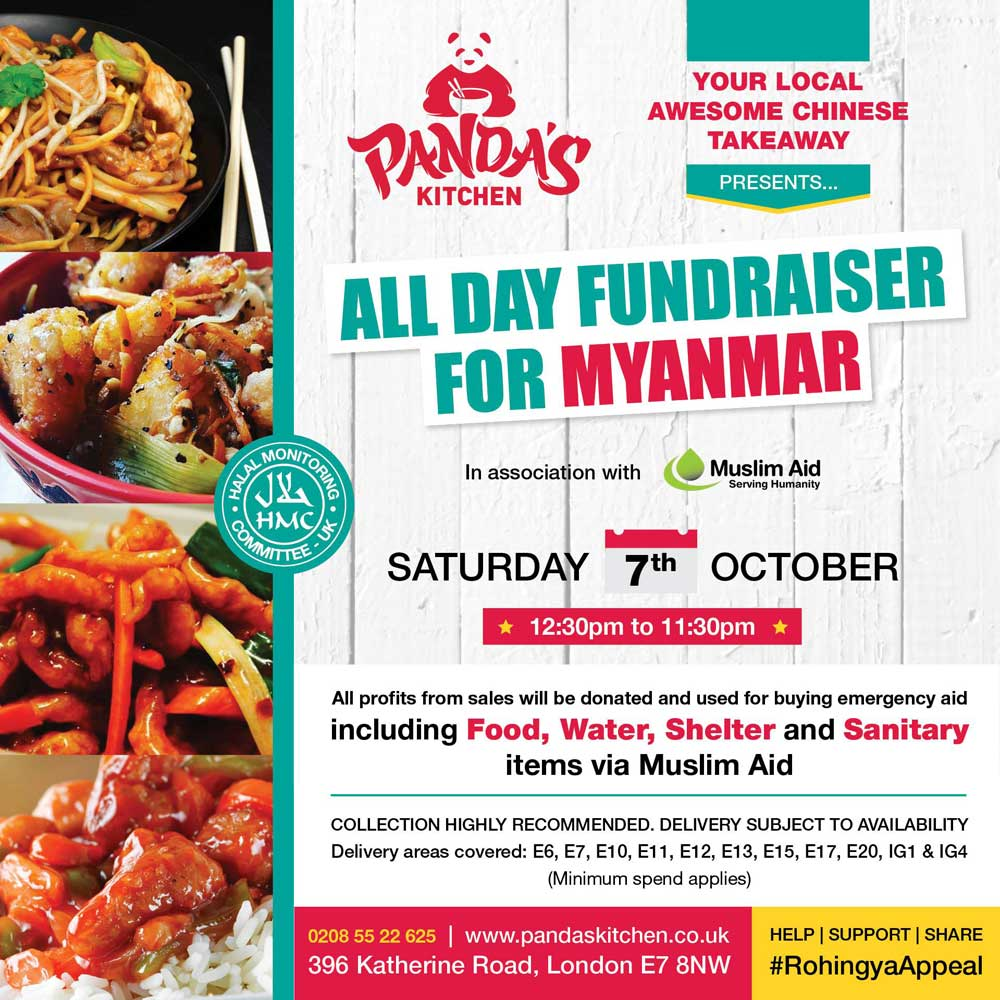 Panda\'s Kitchen Myanmar Food Fundraiser with Muslim Aid - Feed the Lion