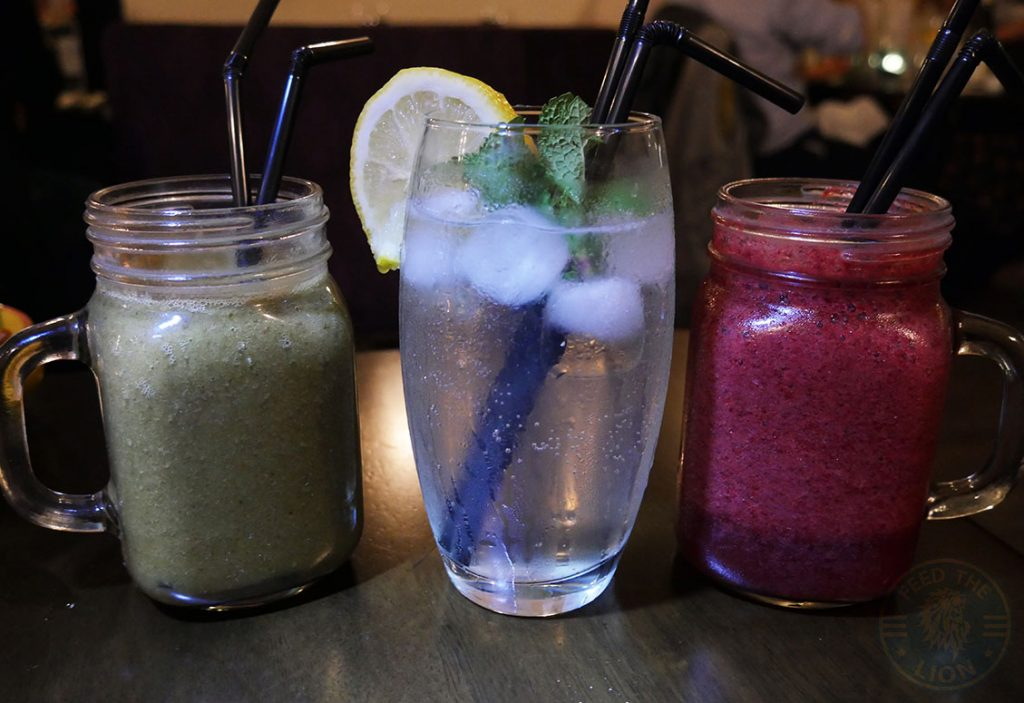 drinks mojito smoothies Zayane Michelin Star Halal Moroccan Notting Hill