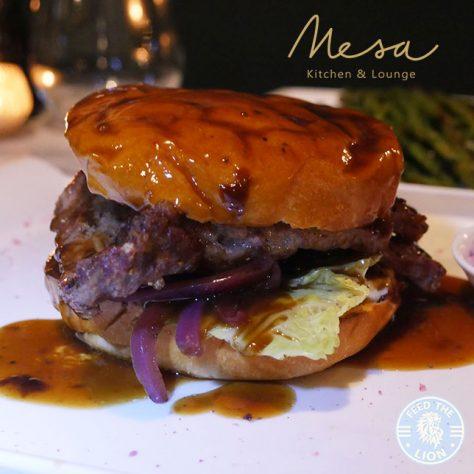 Mesa Kitchen Restaurant Southgate London Halal chocolate dessert burger