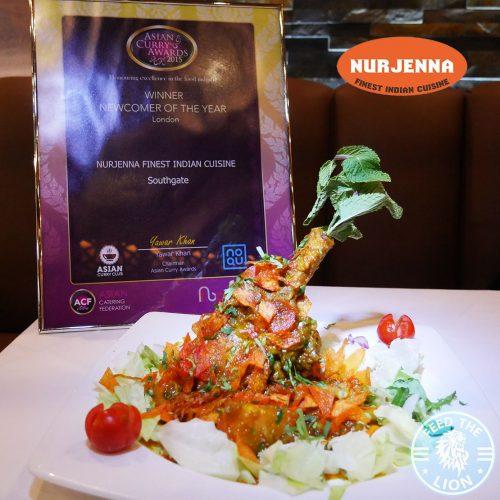 Nurjenna Indian Curry Southgate Halal award London Restaurant