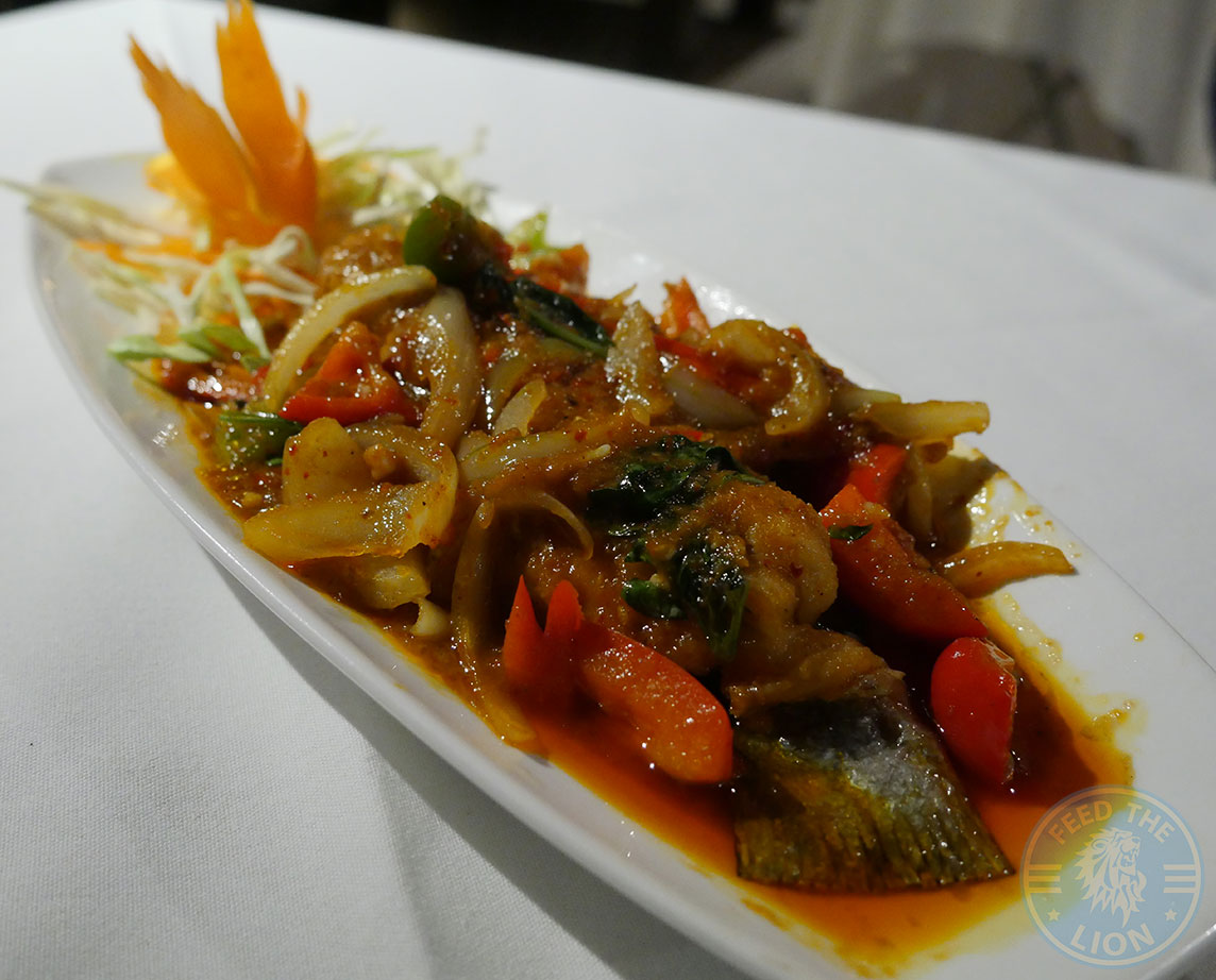 Sea Bass Tiger Lily Thai Restaurant London Osterley Halal