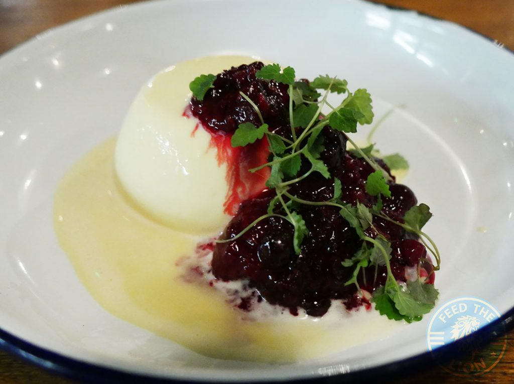 Panna Cotta Dessert The Chicken Shop Halal Rotisserie Ealing Broadway Restaurant