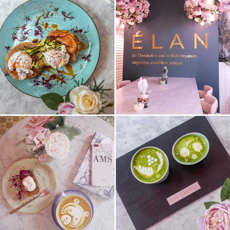 elan cafe knightsbridge brompton road coffee tea breakfast beauty products