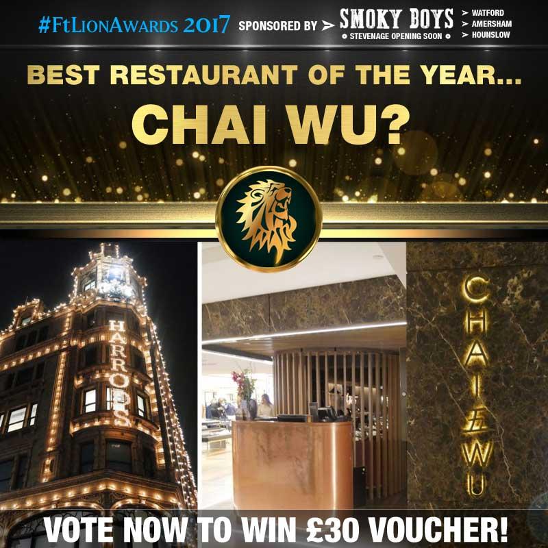 restaurants, best of, top 5, london, chai wu, knightsbridge
