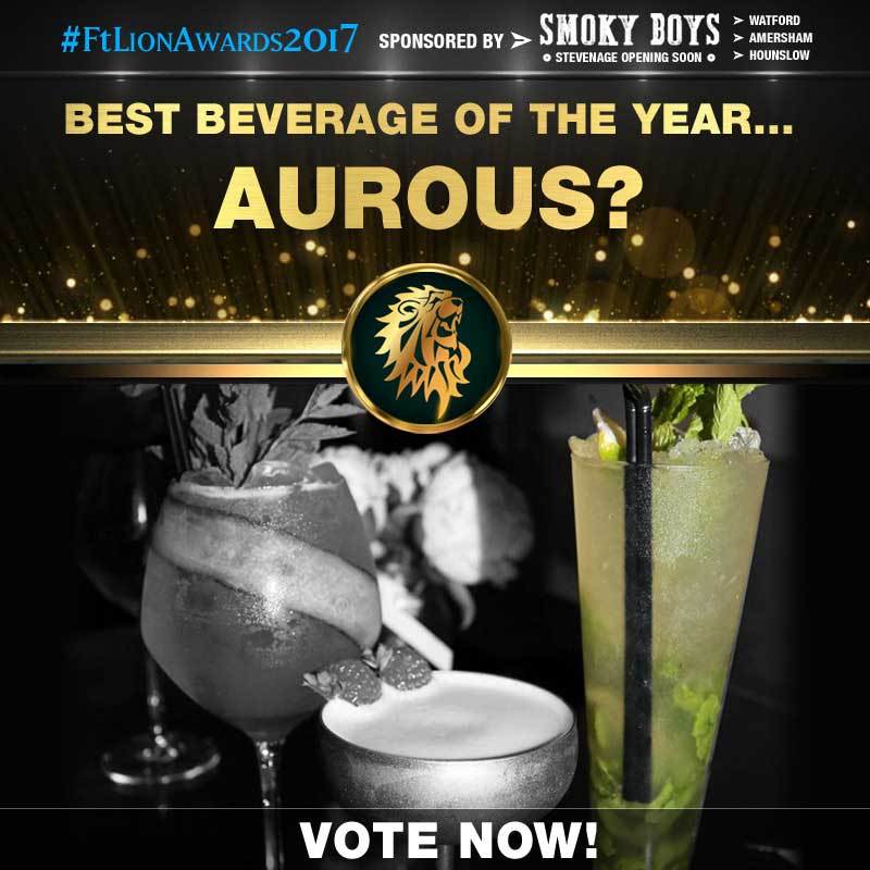 FtLion Awards 2017 Smoky Boys Beverage Drinks Aurous