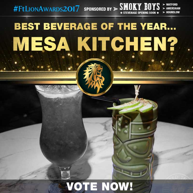 FtLion Awards 2017 Smoky Boys Beverage Drinks Mesa Kitchen