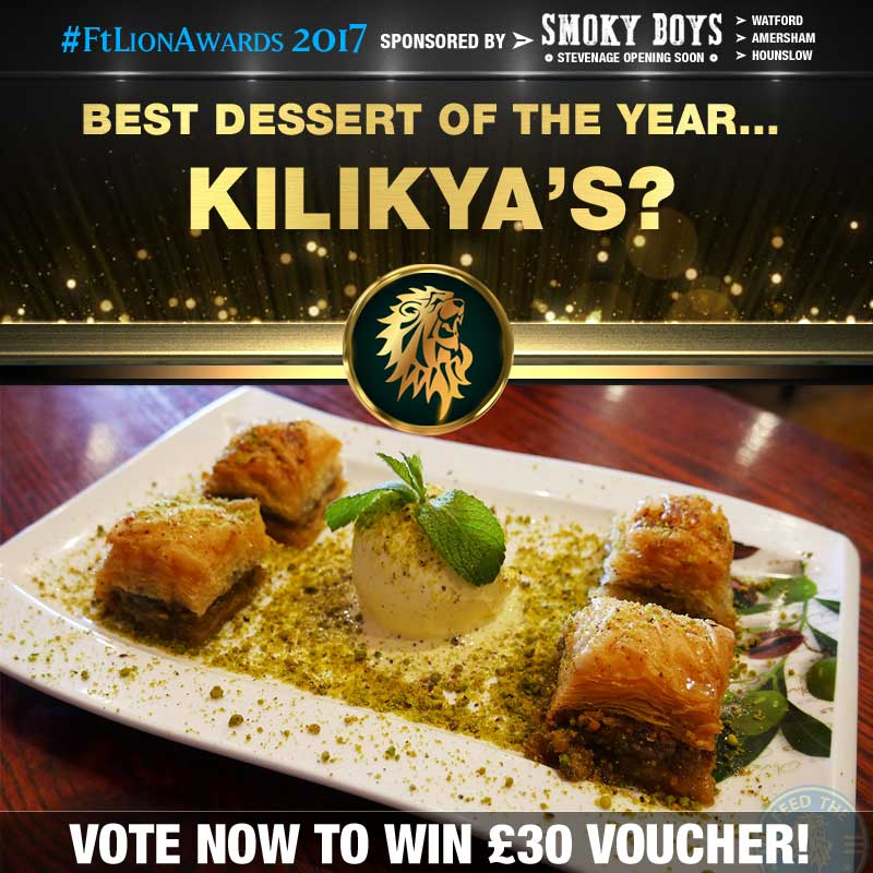 FtLion Awards 2017 Smoky Boys Dessert Kilikya's Baklava