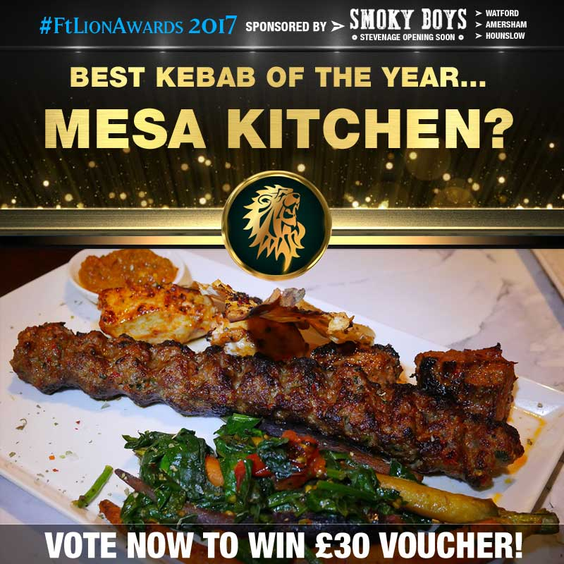 FtL Awards 2017 Halal Kebab of the Year Mesa Kitchen