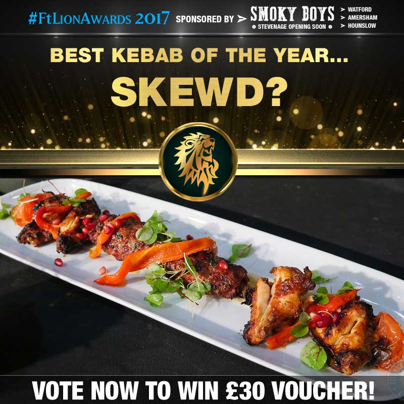 FtL Awards 2017 Halal Kebab of the Year Skewd