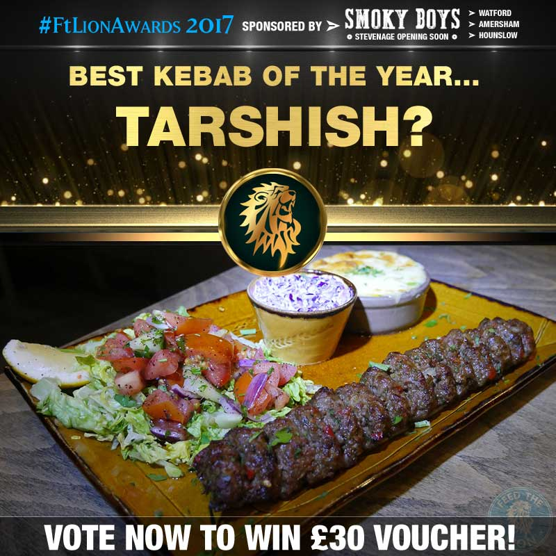 FtL Awards 2017 Halal Kebab of the Year Tarshish Adana