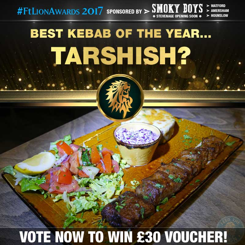 FtL Awards 2017 Halal Kebab of the Year Tarshish Lamb