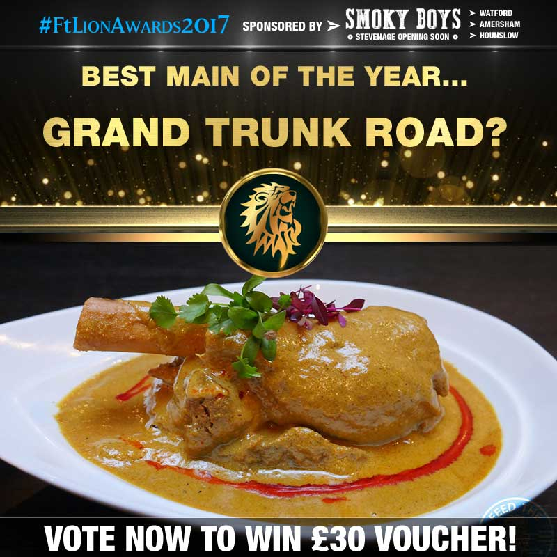 FtLion Awards 2017 Smoky Boys Main Grand Trunk Road Lamb Shank