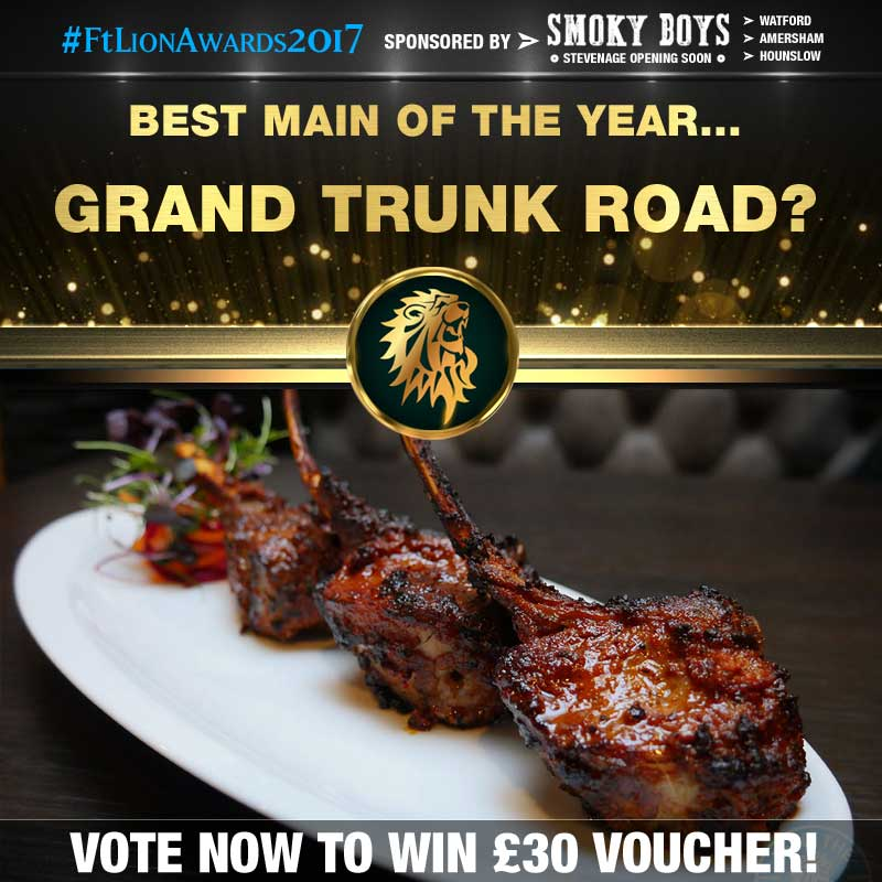 FtLion Awards 2017 Smoky Boys Main Grand Trunk Road Lamb Chops