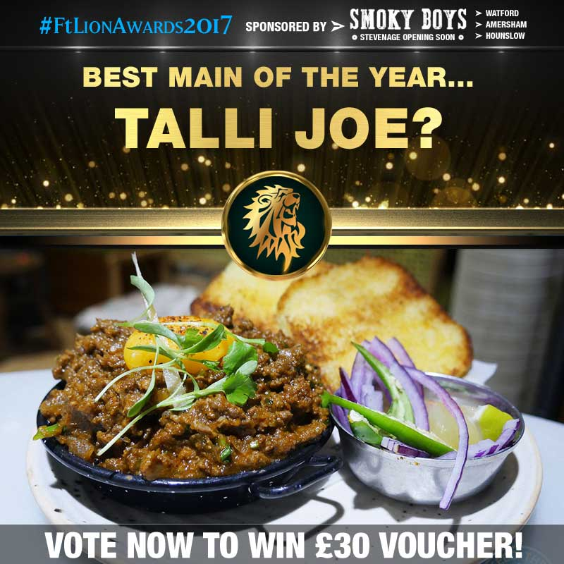 FtLion Awards 2017 Smoky Boys Main Talli Joe Venison Keema