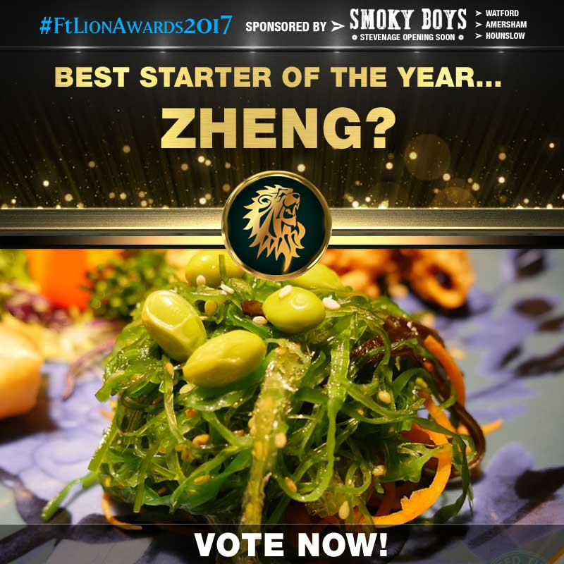 FtLion Awards 2017 Smoky Boys Starters Zheng Seaweed Salad