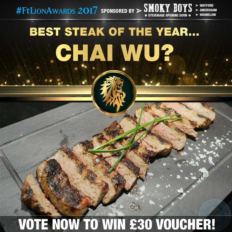 FtL Awards 2017 Halal Steak of the Year Chai Wu Wagyu