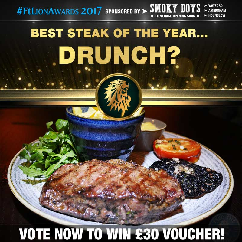 FtL Awards 2017 Halal Steak of the Year Drunch Sirloin