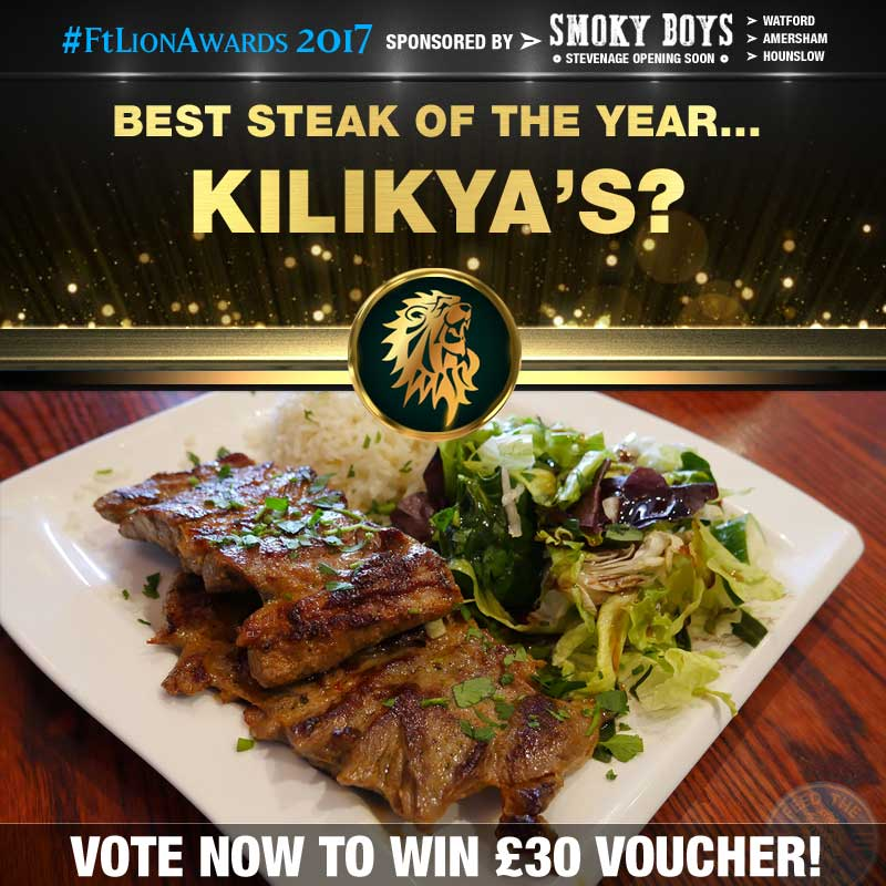 FtL Awards 2017 Halal Steak of the Year Kilikya's Lamb