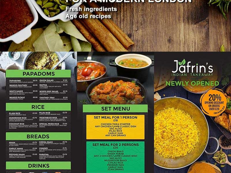 Jafrin's Indian Takeaway London Curry