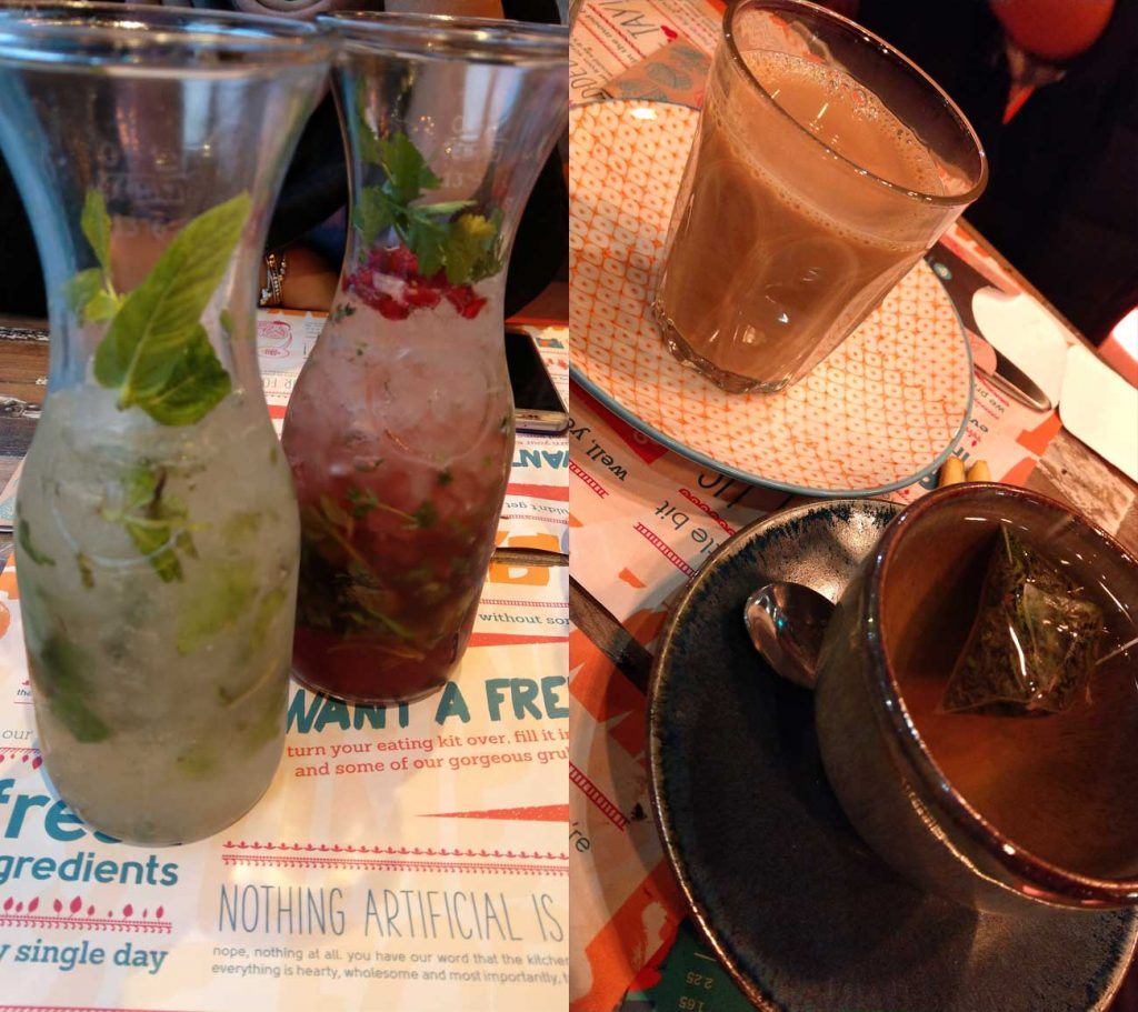 Tamatanga Indian Birmingham Curry Curries Drinks Mojito Chai