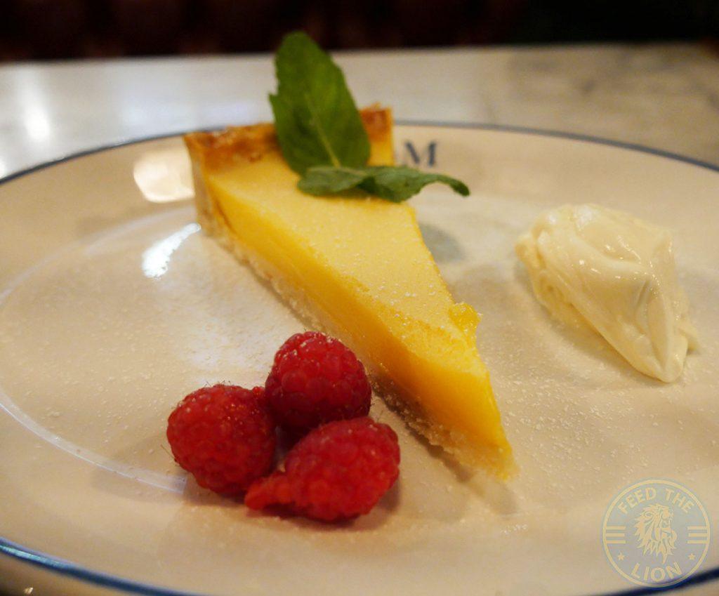 lemon tart Zelman Meats Harvey Nicholas, Knightsbridge Halal Wagyu Meat London Restaurant