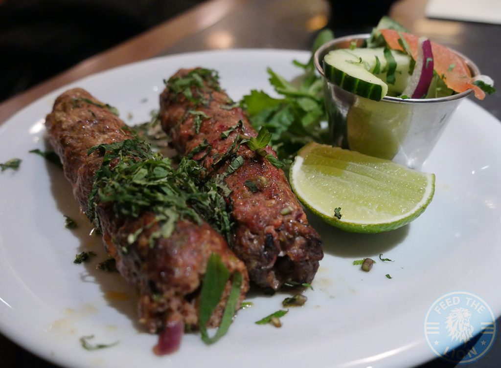 Dishoom Kensington Indian Irani Cafe Bombay SHEEKH KABAB Lamb Kebabs