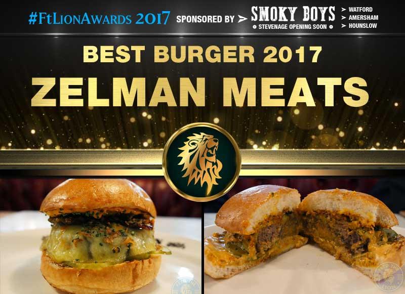 Best Burger 2017 - Zelman Meats, London