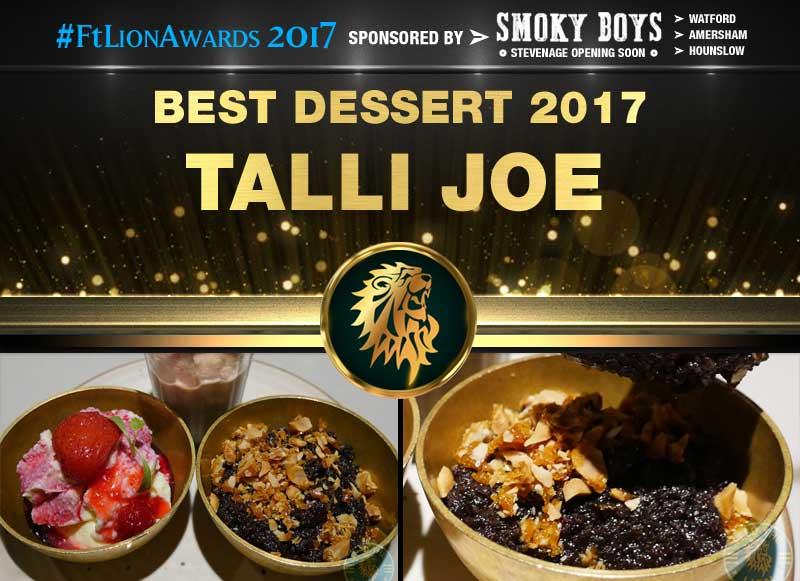 Best Dessert 2017 - Talli Joe, London