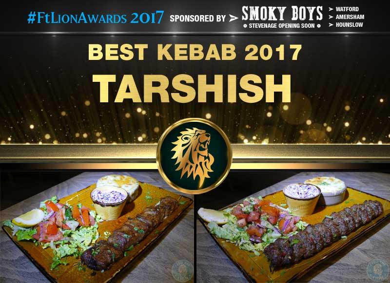 Best Kebab 2017 - Tarshish, London