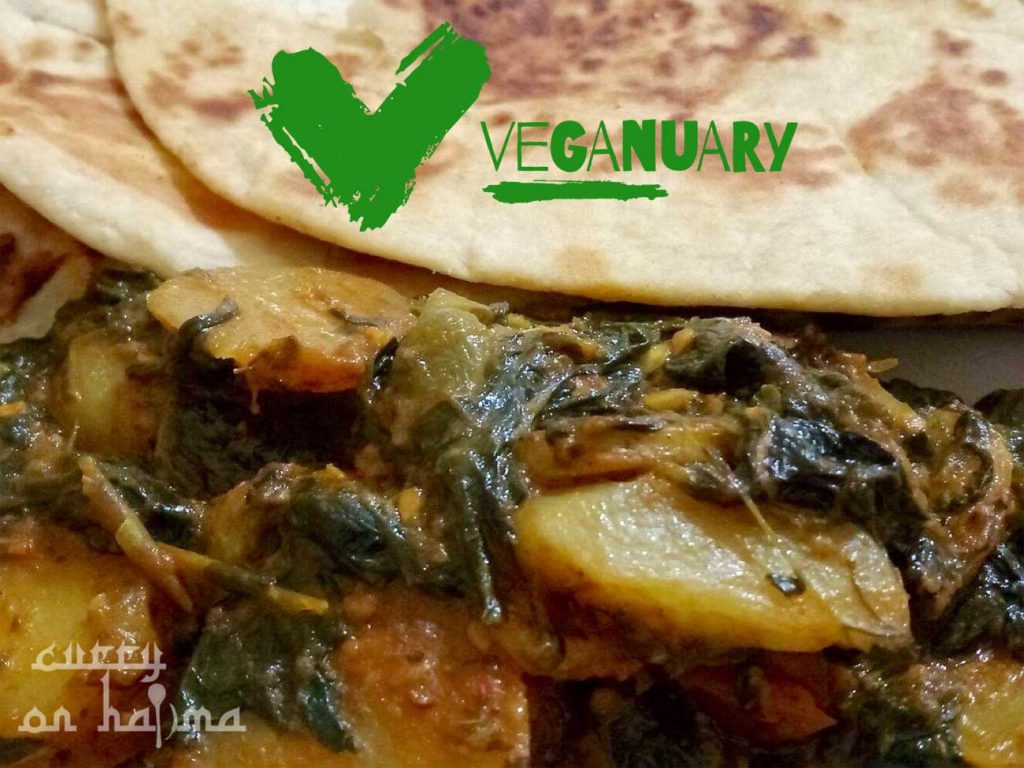 Halima Spinach & Potato Recipe Veganuary